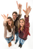 volunteering-crowd-three-young-people-raising-their-hands-45121913